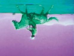Bruce Nauman, Green Horses, 1988 (Still) 2-Kanal-Videoinstallation (Farbe, Ton), 1 Projektion, 2 Monitore und Stuhl, 59:40 Min., Masse variabel. Gemeinsam erworben von der Albright-Knox Art Gallery, Buffalo, New York, mit Mitteln aus dem Nachlass von Arthur B. Michael, durch Tausch; und dem Whitney Museum of American Art, New York, mit Mitteln des Director's Discretionary Fund und dem Painting and Sculpture Committee, 2007, Foto: Ron Amstutz, © Bruce Nauman / 2018, ProLitteris, Zurich