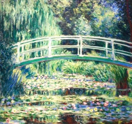 Claude Monet, Die japanische Brücke über dem berühmten Seerosenteich, in seinem Garten in Giverny © starkandart.com