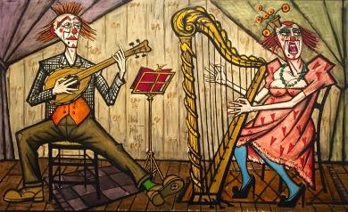 Bernard Buffet, Clown Musicians, 1991 © starkandart.com