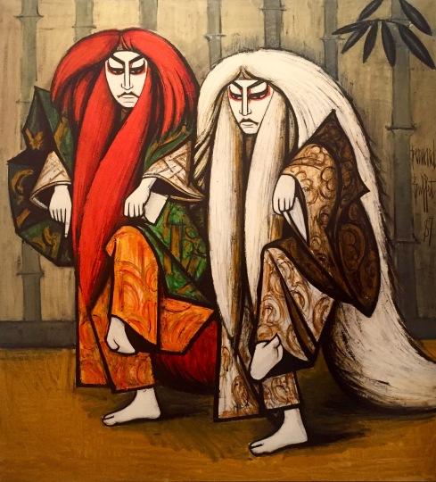 Bernard Buffet, Kabuki, Ren Jishi, 1987 © starkandart.com