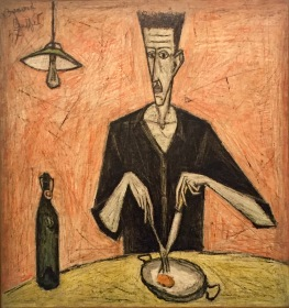 Bernard Buffet, Man with an egg on his plate, 1947 © starkandart.com