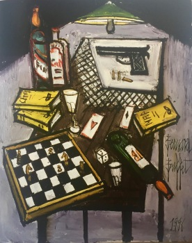 Bernard Buffet, Stilllife on a table, 1996