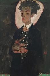 Egon Schiele, Selbstporträt mit Pfauenweste, 1911 - Ernst Ploil, Wien © starkandart.com