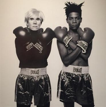 Andy Warhol und Jean-Michel Basquiat, Porträt von Michael Halsband, 1985 ©starkandart.com