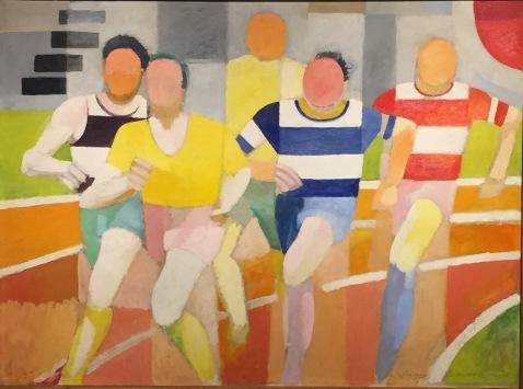Robert Delaunay - Die Läufer, 1924-1925 - Privatsammlung © starkandart.com